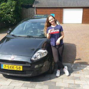 Channa Uit de Bosch is in een keer geslaagd