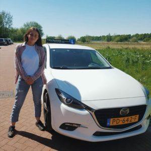 Julia van der Most is in een keer geslaagd
