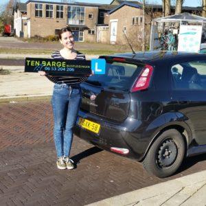 Nathalie rijbewijs gehaald