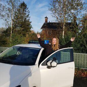 Kalina geslaagd rijbewijs